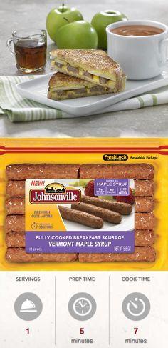 Breakfast Sausage Grilled Cheese Sandwich | Recipe ...