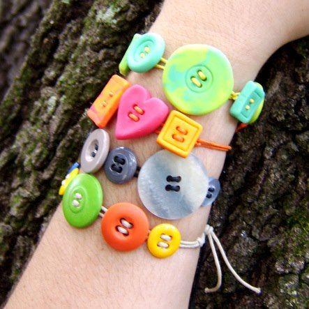 pulseras con botones