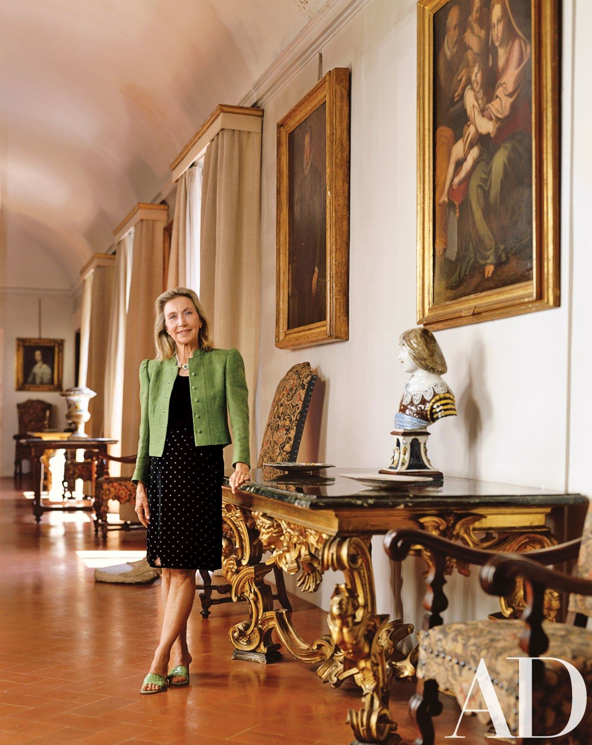 477d25eecd Emilio Pucci's Widow Refreshes Their Ancestral Home in Florence Photos |  Architectural Digest