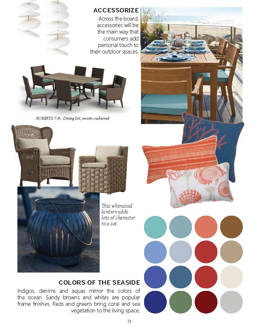 A Collection Of Market And Style Trends That Are Guiding The Patio Furniture Industry For