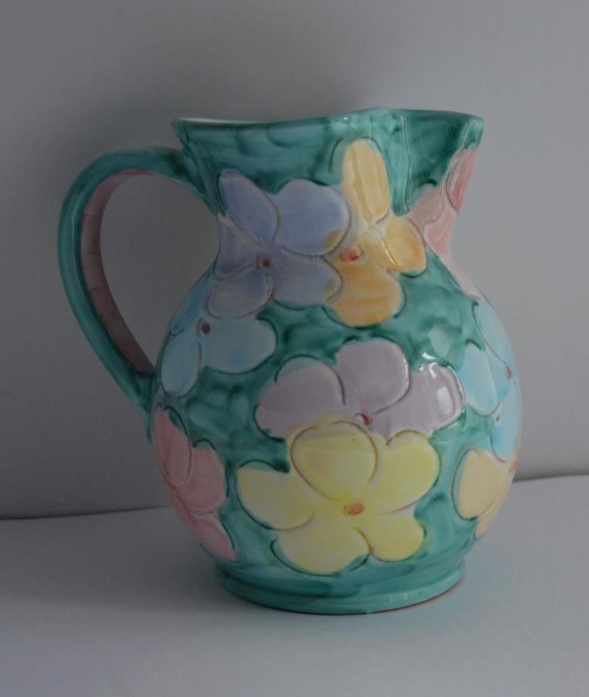 Large vintage hand carved painted studio water jug vase italy details about large vintage hand carved painted studio water jug vase italy decorative a1 reviewsmspy