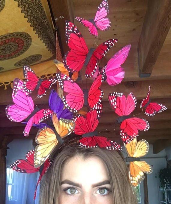 The Social Butterfly Multicolor Fascinator Headdress
