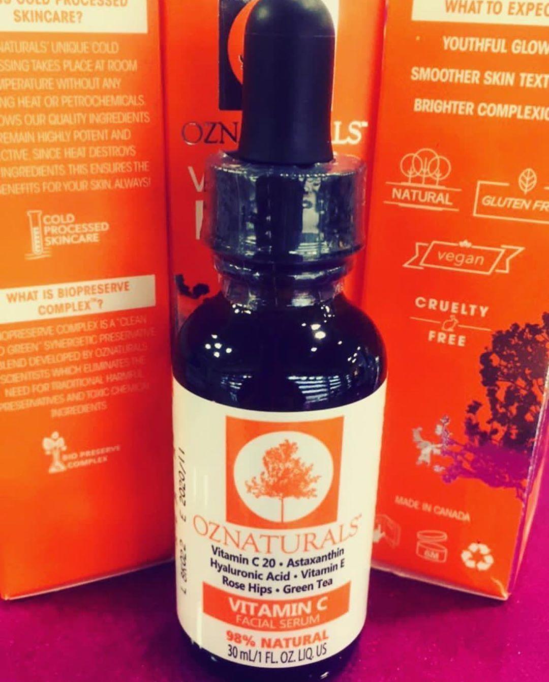 ورجعنالكم من جديد سيروم فايتمن C الاصلي من Oz Naturals السعر 25 دينار الافضل مبيعا عالميا ي Skin Care Makeup Ingredients