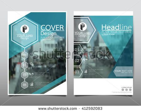 Blue Hexagon Technology Annual Report Brochure Flyer Design