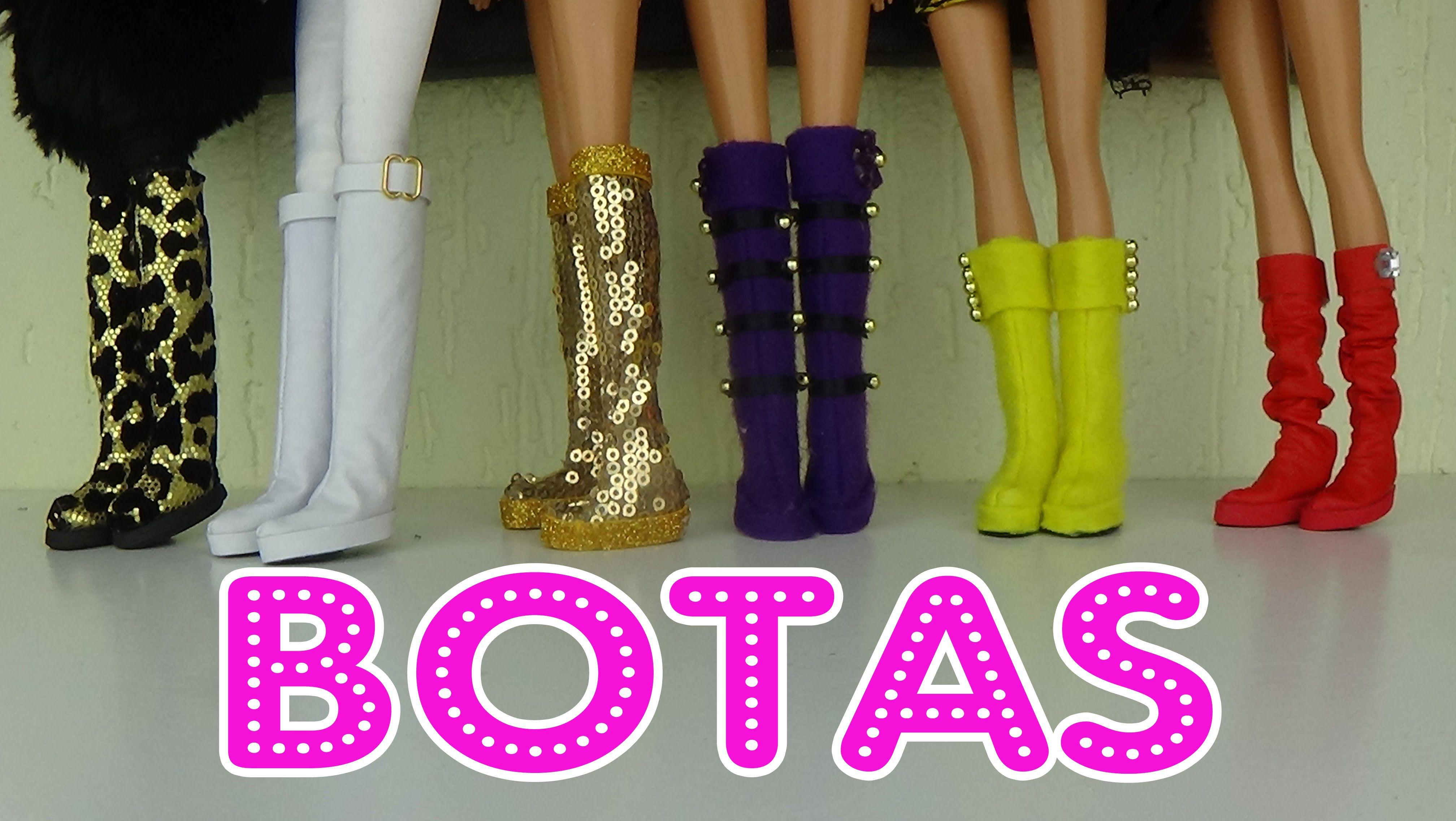 4b815c69ea98 Como fazer botas para bonecas Roupas De Boneca Bebê, Sapatos Da Barbie, Diy  Sapatos