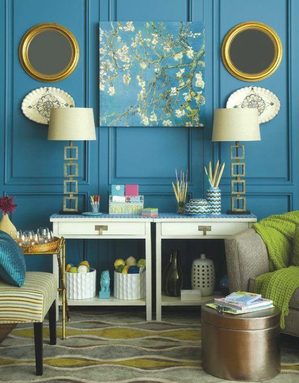 interiores azules