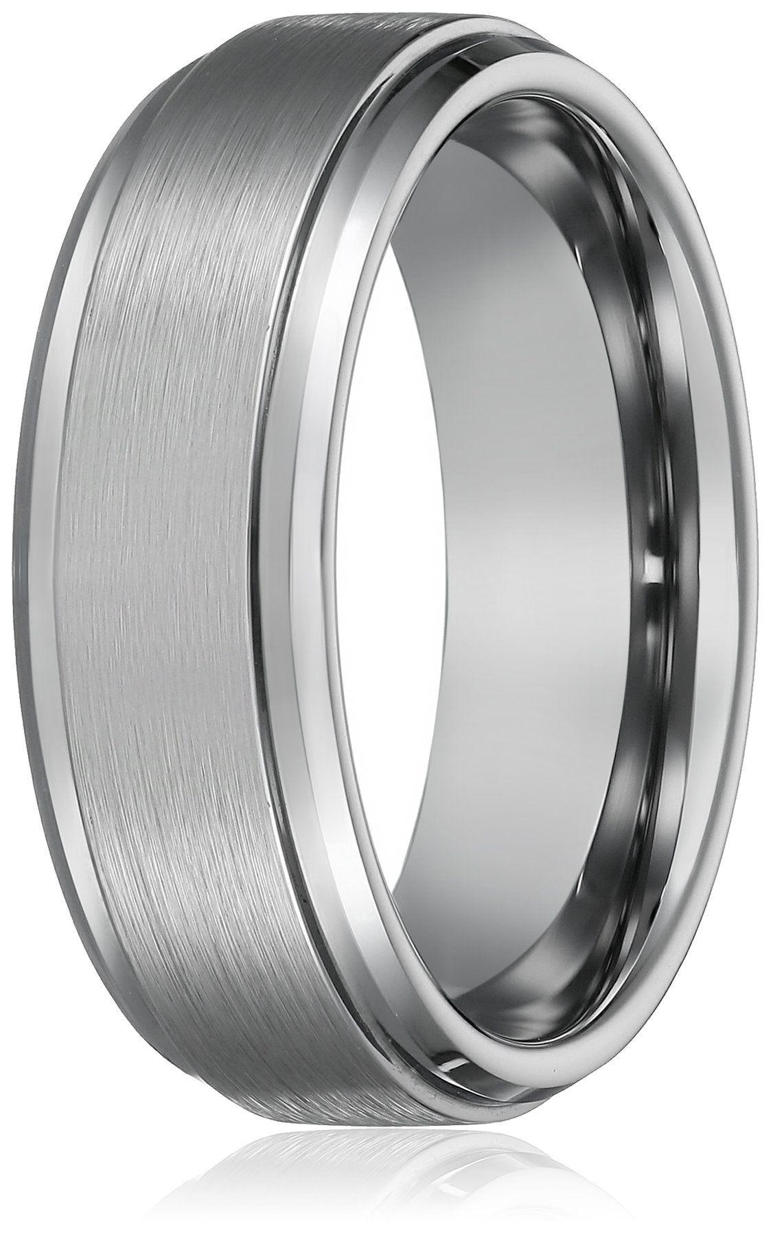 Size 12.5 Polished Flat Titanium Wedding Band Ring