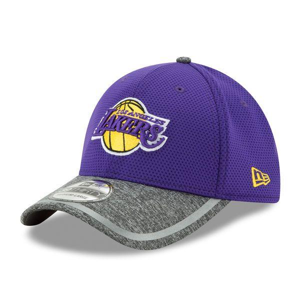 Los Angeles Lakers New Era Training 39THIRTY Flex Hat - Purple Heathered  Gray -  29.99 7072ff94a70