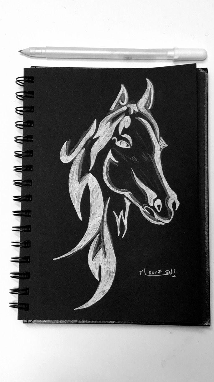 رسم حصان Draw Horse Art Drawings Sketches Simple Horse Art Painting Art Projects