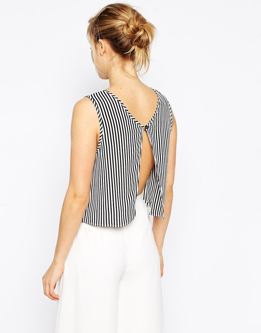 <3 Love: ASOS Striped Shirt with Cutout