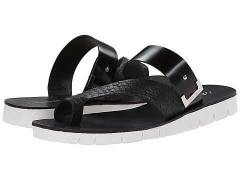 Womens Sandals Calvin Klein Pax Black Baby Python