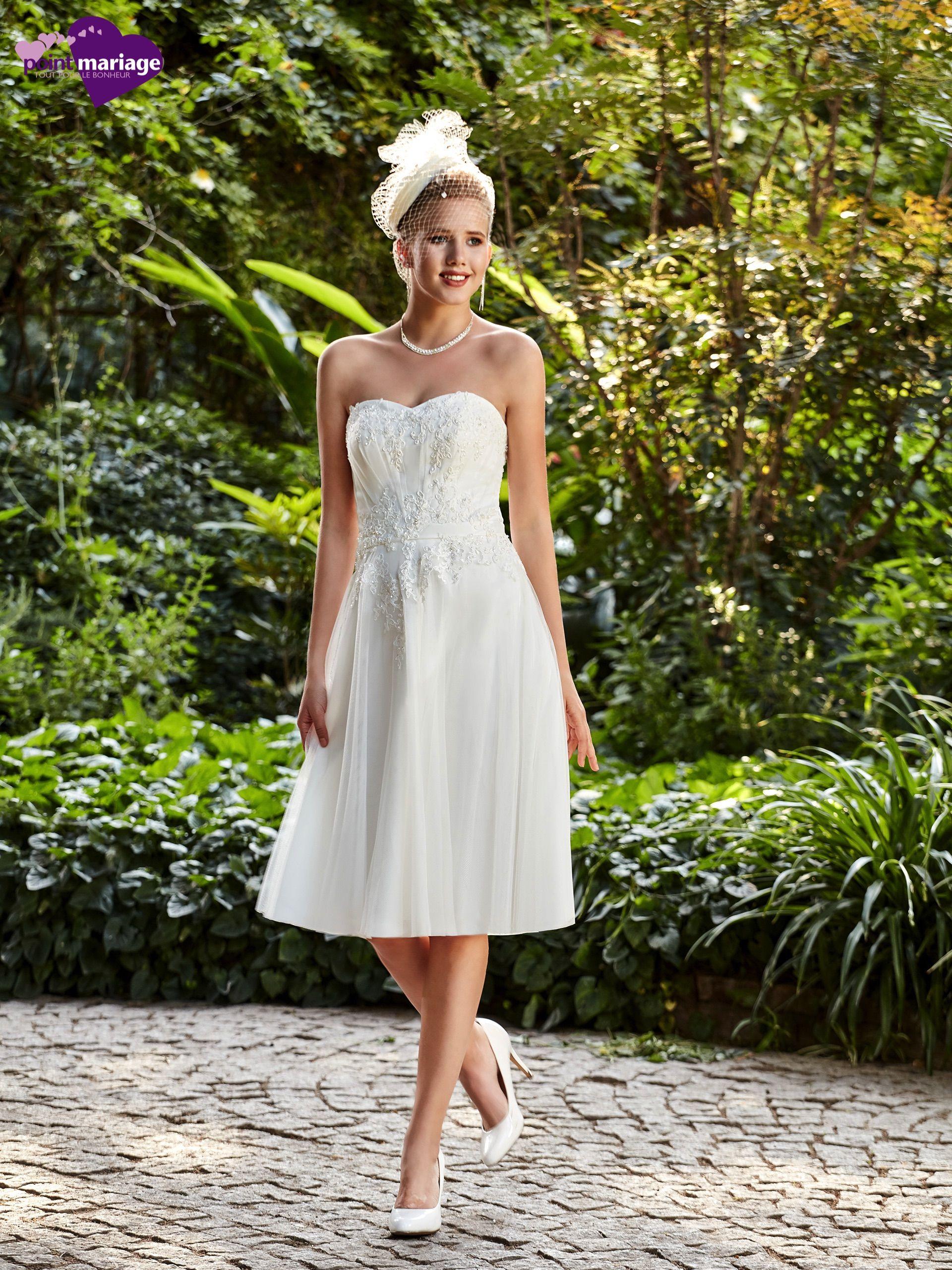 Robe mariage civil, robe de mariée courte,