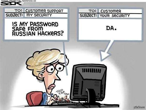 Am i safe from russian hackers