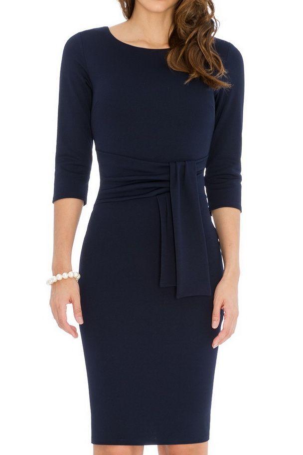 17141d2d7 Vestido entallado con azul marino -mayorista de moda mujer-mayorista de  ropa mujer-ropas mujer al por mayor-ropa hecha en Europa-vestido fiesta al  por ...
