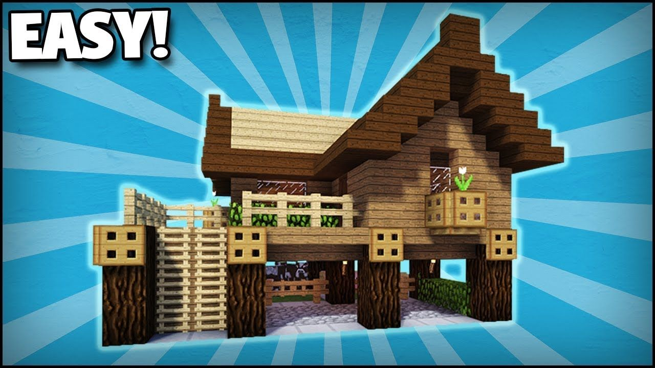 Minecraft How To Build A Small Starter Survival House 1 Easy Tutorial Minecraft Starter House Cute Minecraft Houses Minecraft House Tutorials