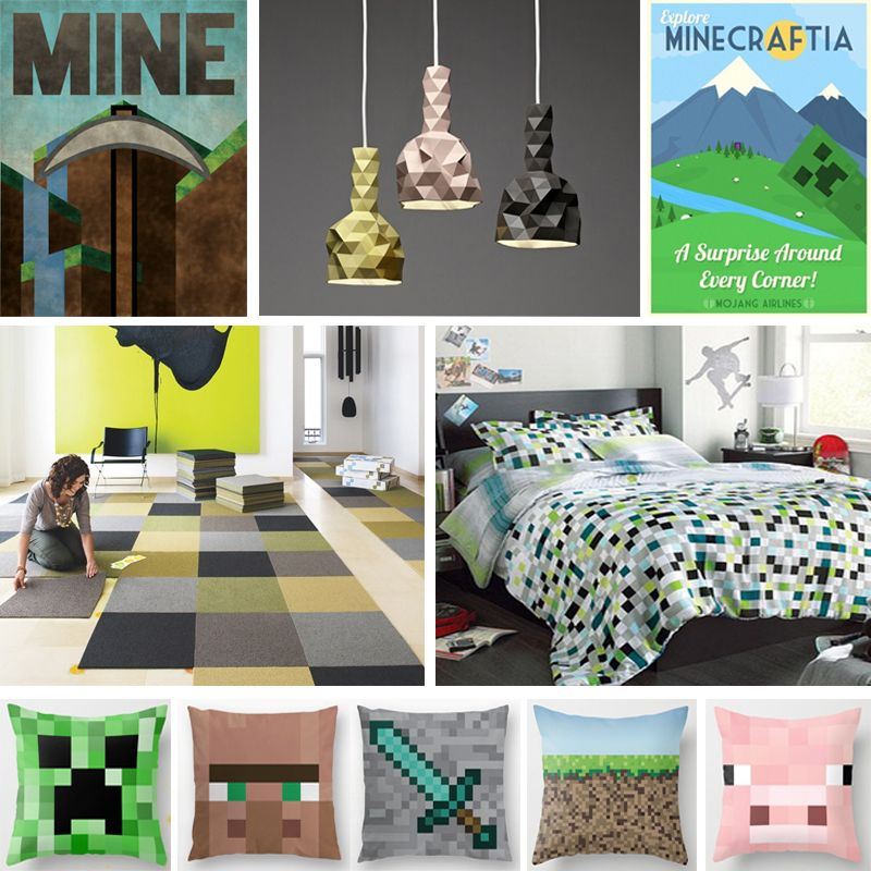 Kids Bedroom On Minecraft a minecraft inspired room design. key elements are the cool