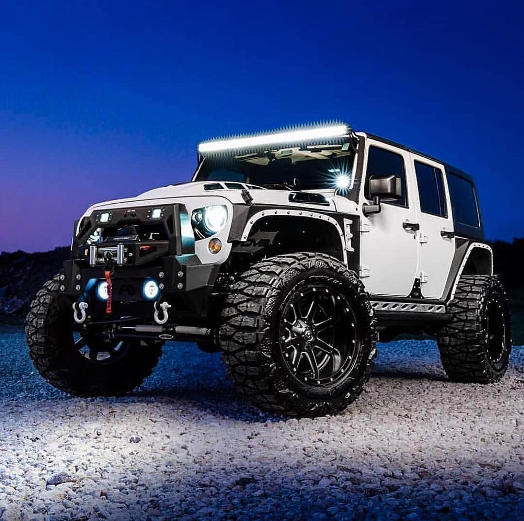 American Custom Jeep On Instagram All American Limited Edition Lighting Up The Night Don T Settle For Standard Exper Dream Cars Jeep Jeep Suv Custom Jeep