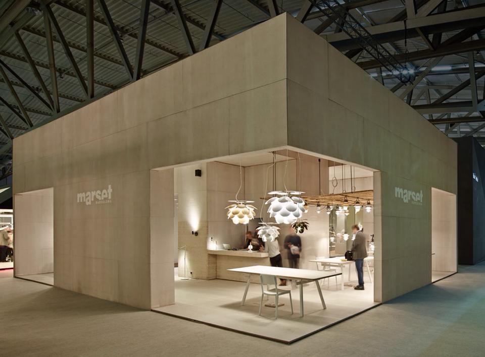 Simple Exhibition Stand Lighting : Stand marset iluminacion en light building