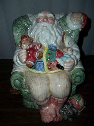 Fitz  Floyd Santa Cookie Jar
