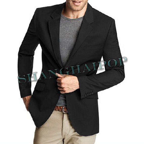 Black Coat | Male Fashion Trench Coat Black Grey leisure jacket ...
