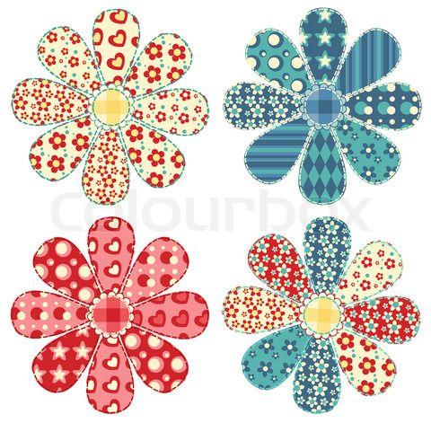 Patrones Patchwork Gratis: Flores!! | Patchwork | Pinterest ...