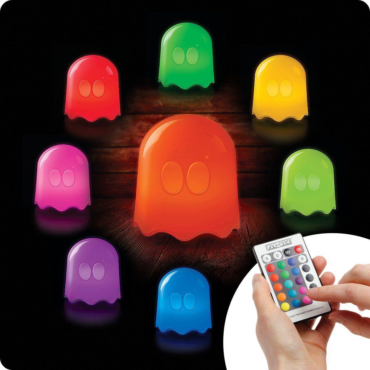 Pac Man Led Lampe 16 Farben Mit Fernbedienung Tolle Deko Fur Ein