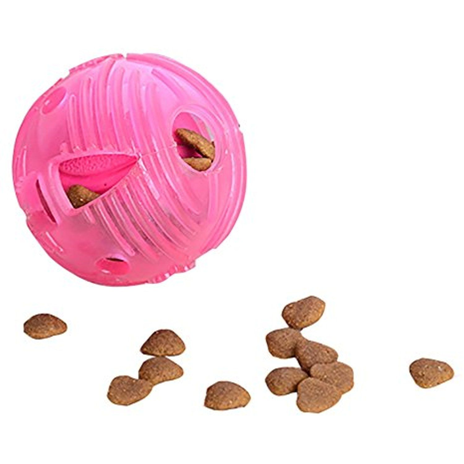 Interactive food dispensing dog toy soft rubber toy ball