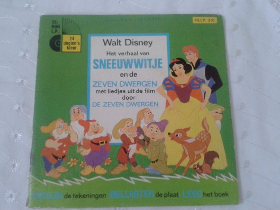 Walt Disney read along book and record  Snow by simplyproducts, $15.00