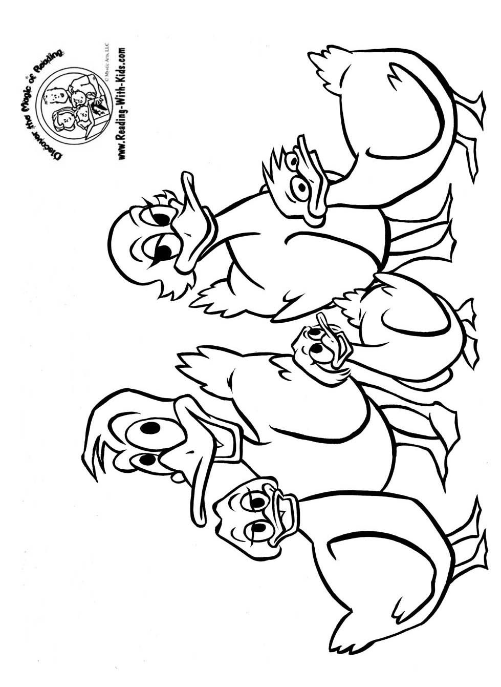 Five Little Ducks Coloring Page With Images Fox Coloring Page