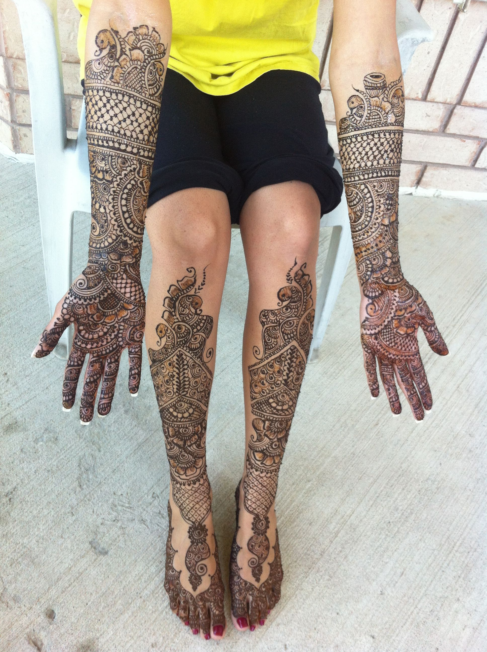 Mehndi For The Inspired Artist : Bridal mehndi by sonia s henna art tags of service in