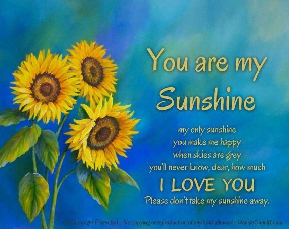 You are my sunshine Wall art Canvas art print by ArtFromDenise