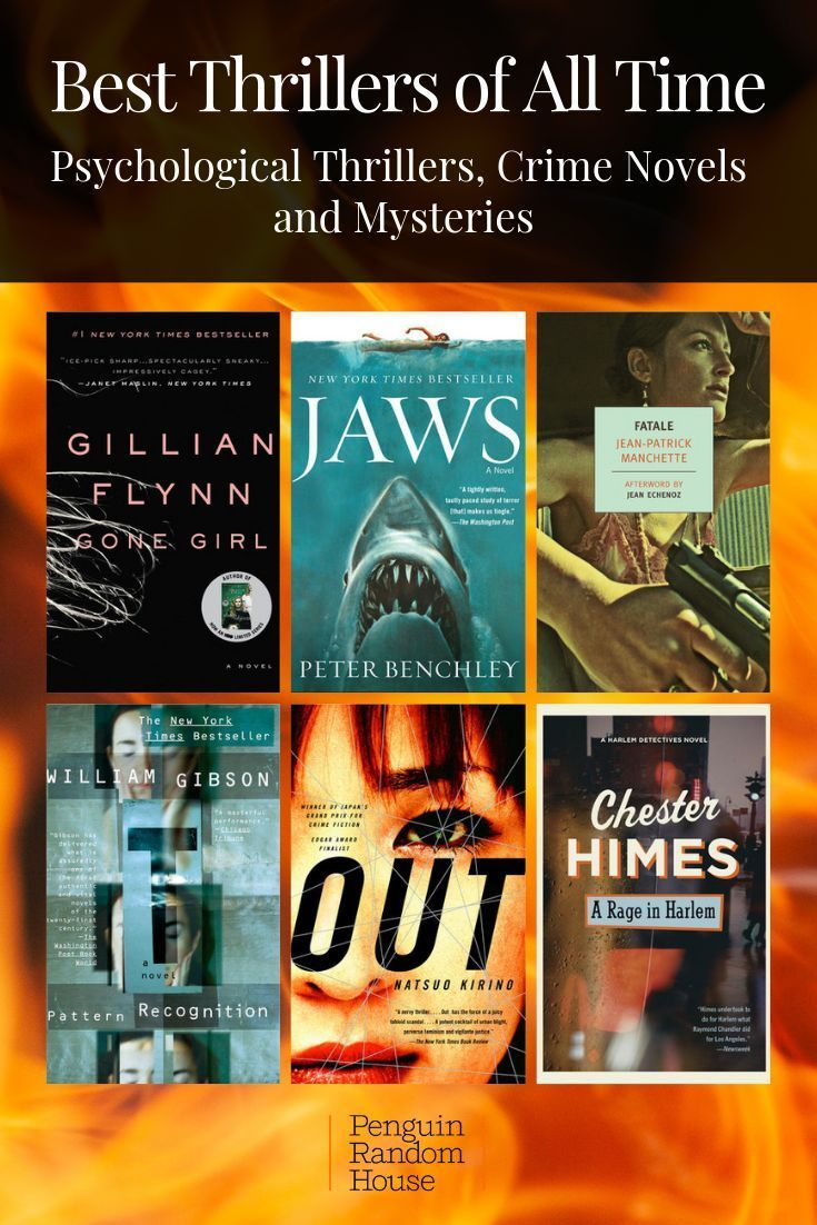 Best Thrillers of All Time Thriller books, Good thriller