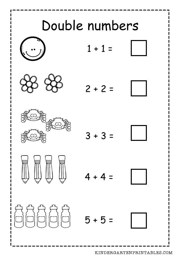 Printable Worksheets 1 to 1 correspondence worksheets : Double Numbers Worksheet Free Printable Adding Double Numbers ...