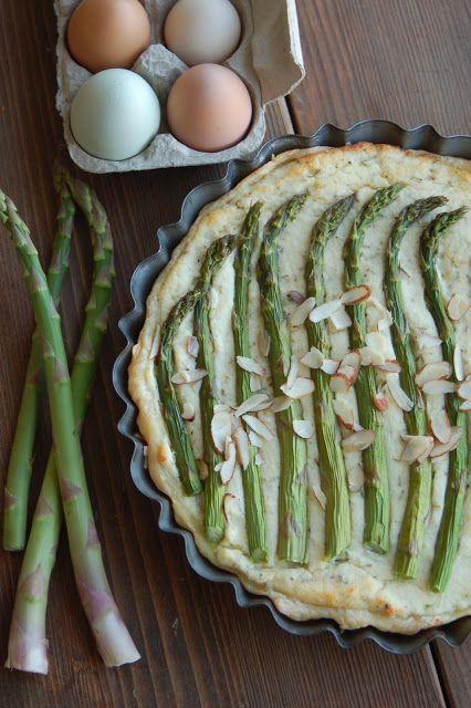 Rustic Dutch Rosemary Asparagus Pie #brunch