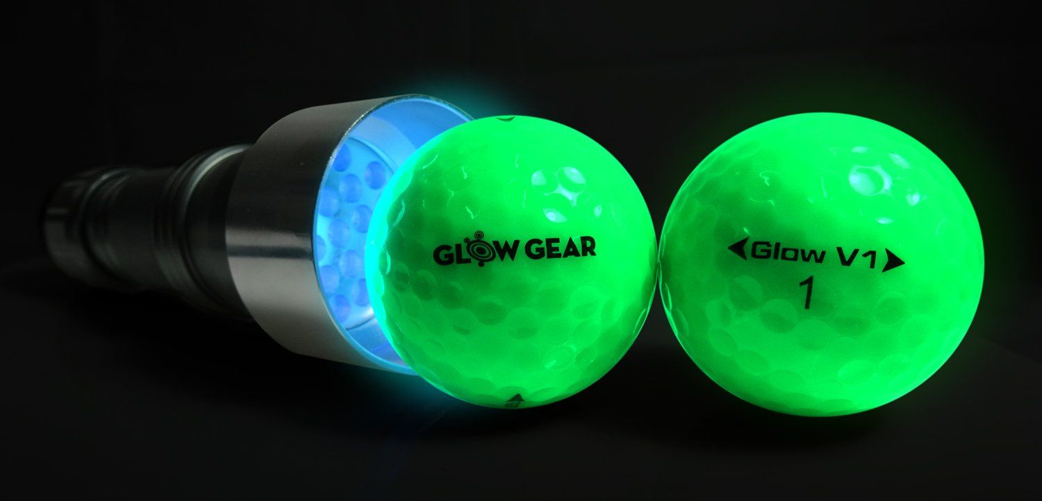 Golf Clubs Glowv2 Night Golf Balls 2pack Best Hitting Ultra Bright Glow Golf Ball Compression Core And Urethane Skin Includes Uv Glow Gear Golf Ball Glow