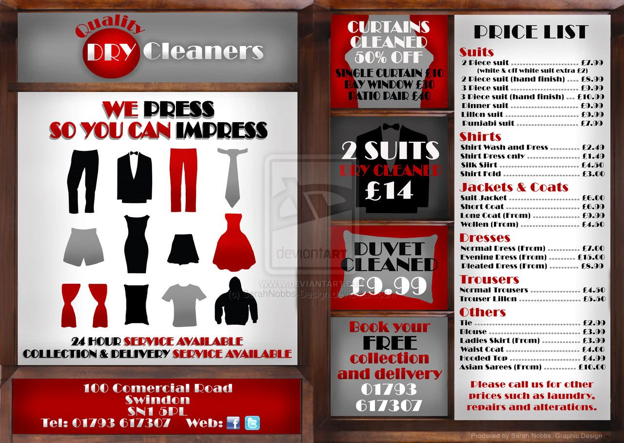Quality Dry Cleaners Flyer Commission by ~SarahNobbs-Design on deviantART 6cc8e1fd6