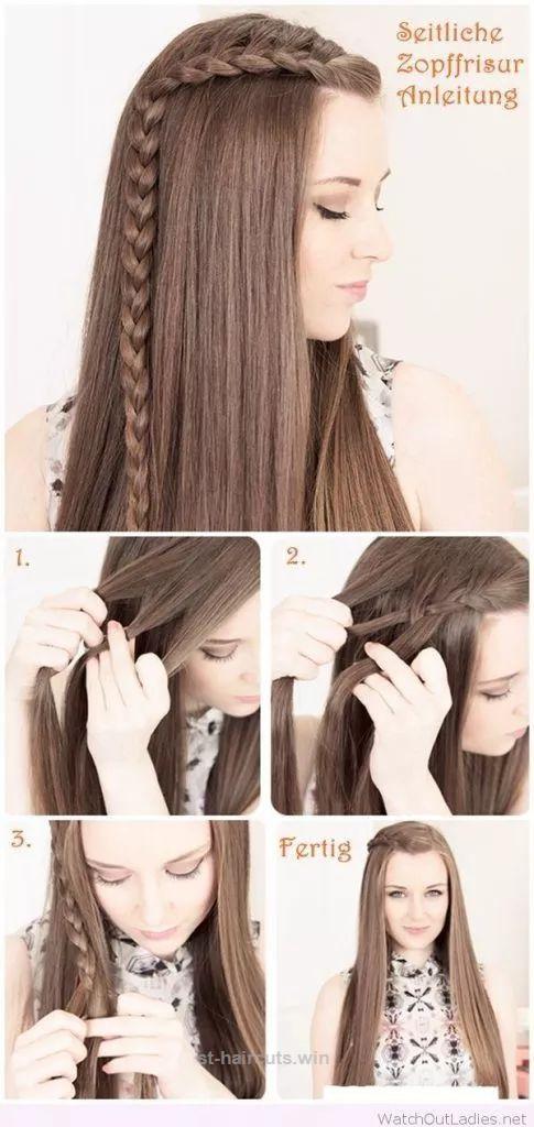 Pretty Braided Hairstyle Tutorial For Long Hair Haircuts