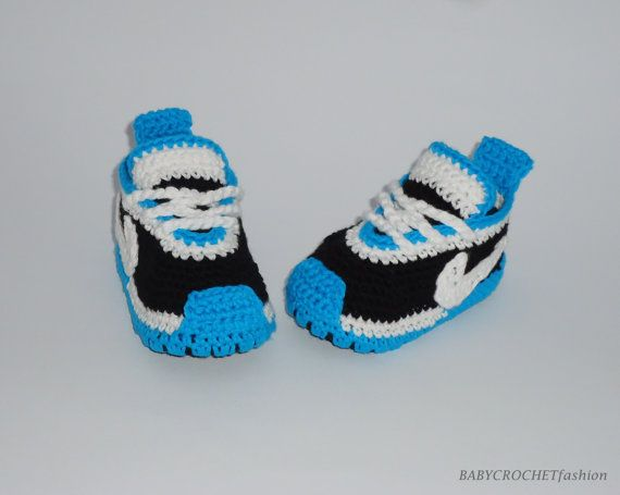 Baby Crochet Shoes Newborn Baby Shoes Blue Slippers Boy Sneakers