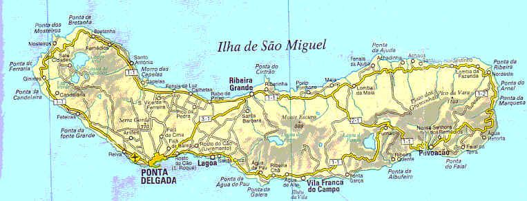 S�o Miguel Pacheco Family Ancesters Pinterest Azores And: Azores Map Location At Slyspyder.com