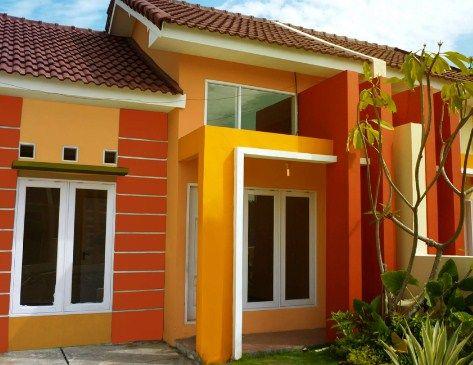 contoh rumah minimalis warna orange di 2020 | rumah, rumah