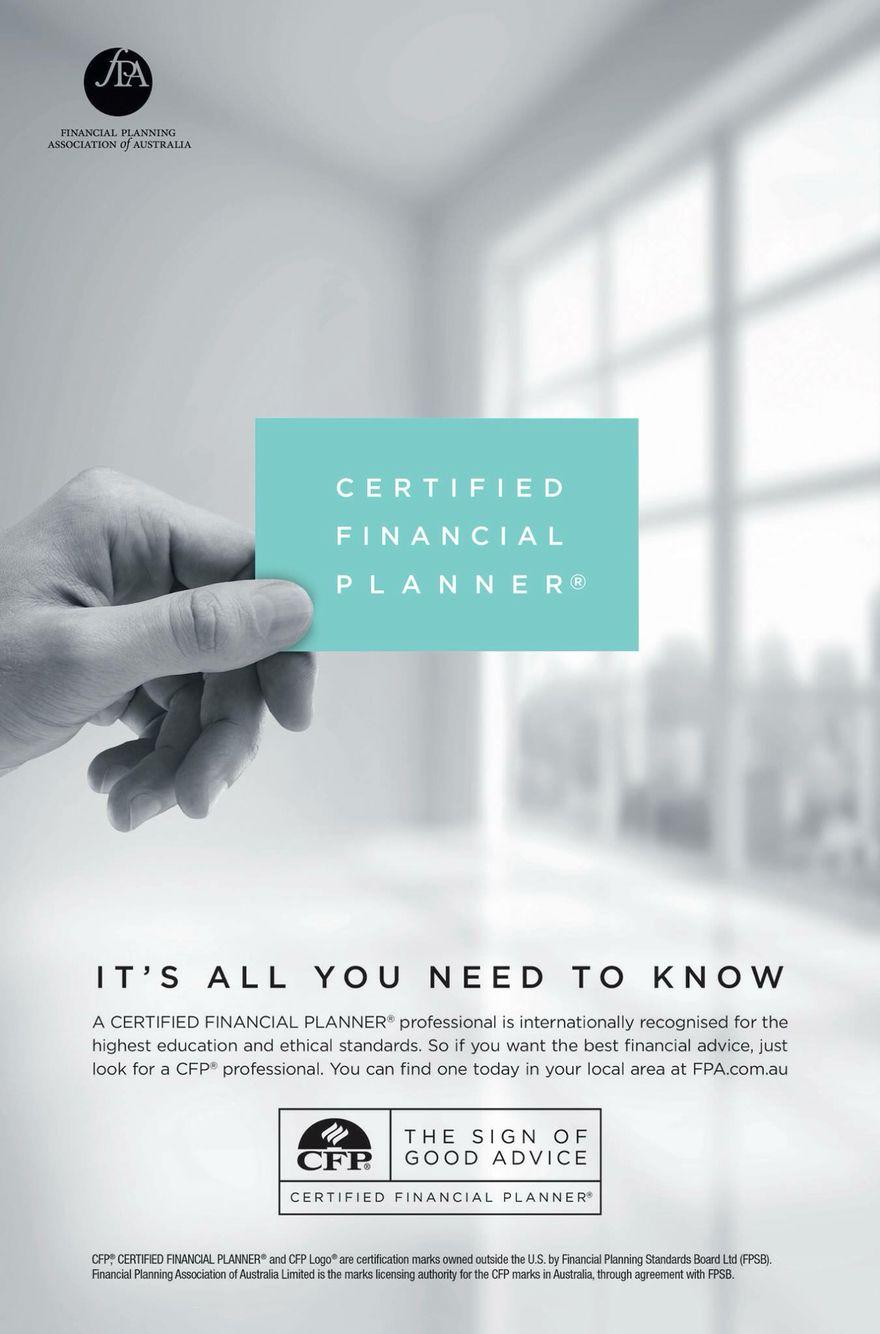 Cfp Certified Financial Planner Cfp Pinterest Certified