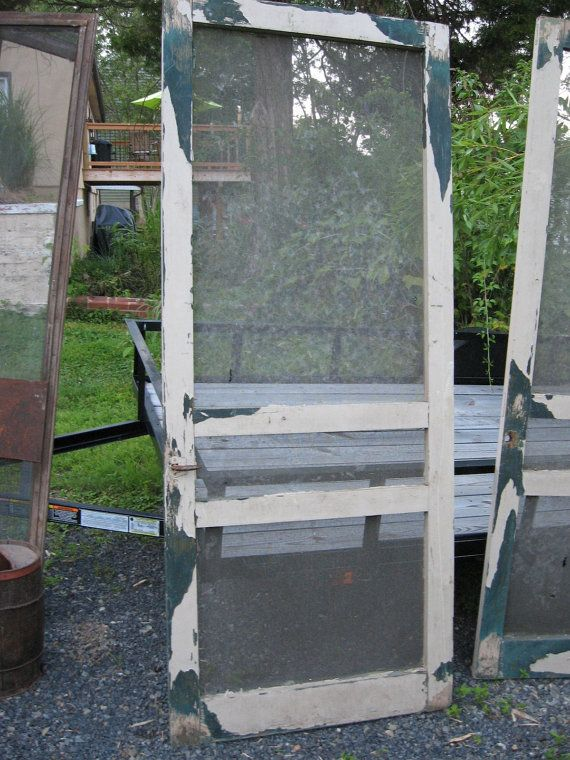 PAIR of SCREEN DOORS Matching Set of Double by FindsandFurnishings, $320.00