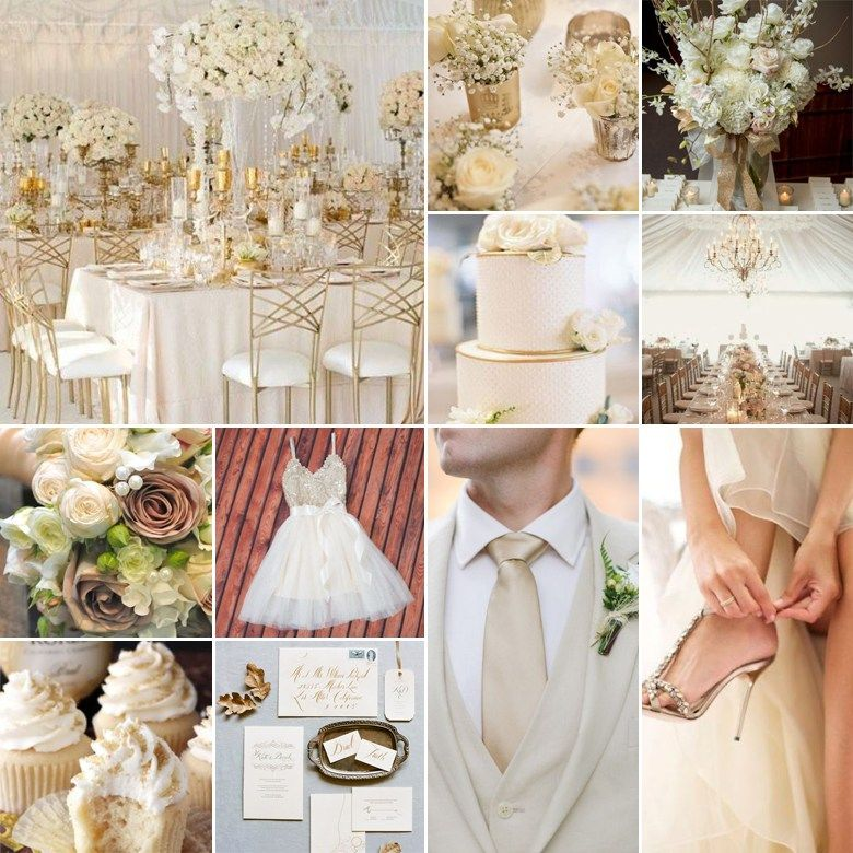 Cream White And Gold Wedding Colours In 2020 Gold Wedding Colors Gold Wedding Wedding Colors
