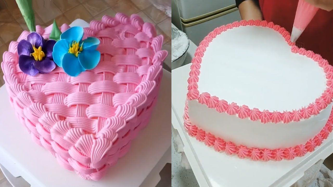 افكار و حيل لتشكيل و تزيين الكيك علي شكل قلب سهل و مفيد Cake Vanilla Cake Make It Yourself