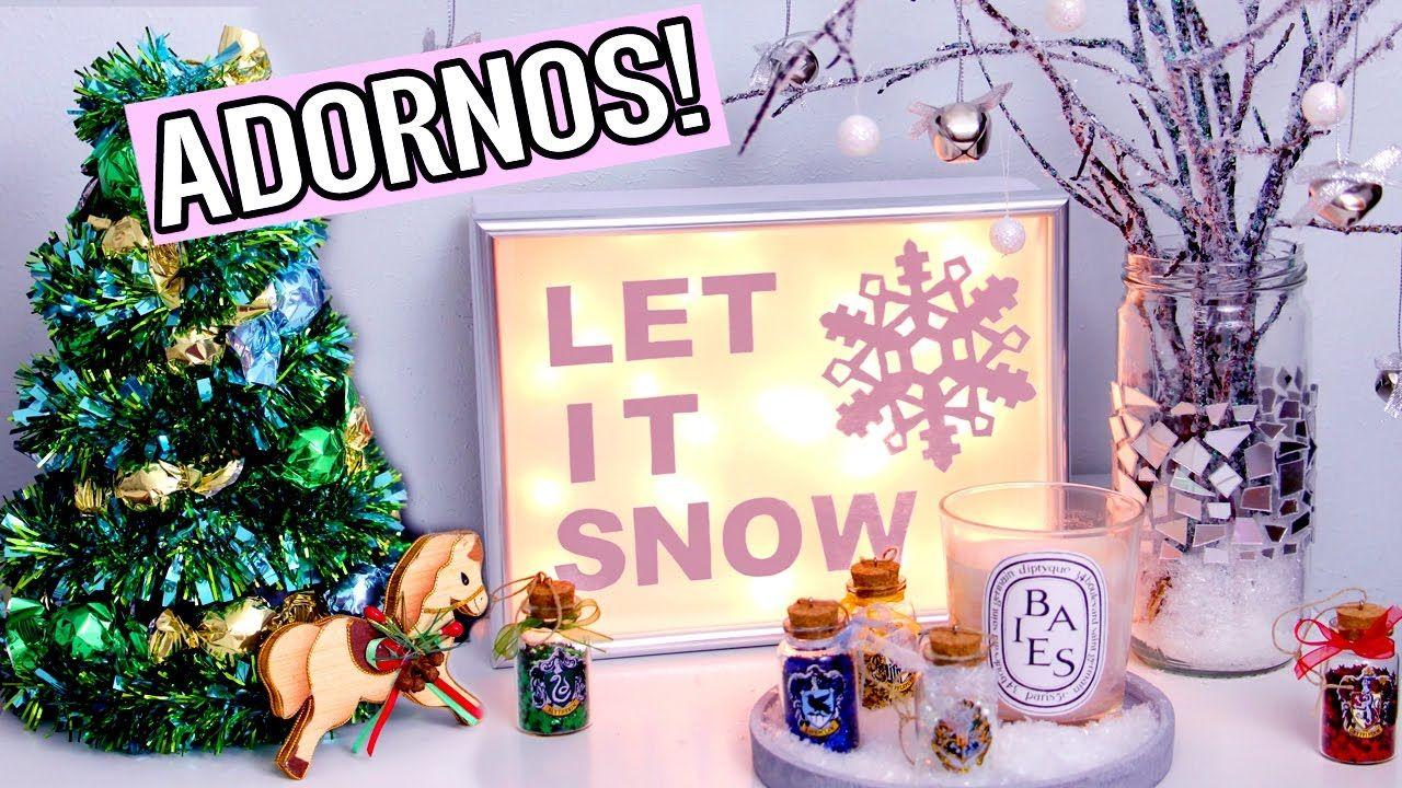Haz DECORACIONES para NAVIDAD! Se enciende! ADORNOS navideños fáciles y ...