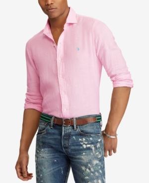 f9727d145f85 Polo Ralph Lauren Men's Classic Fit Linen Shirt - | Products | Polo ...