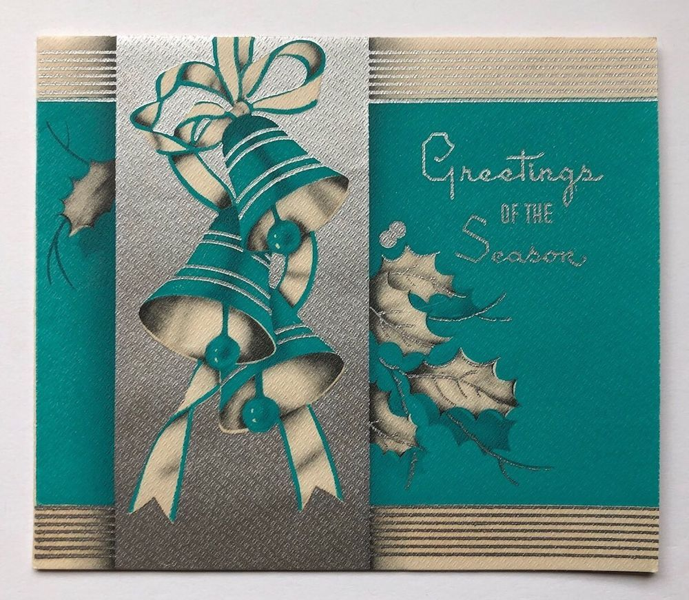 Pin On Vintage Christmas Greeting Cards Four
