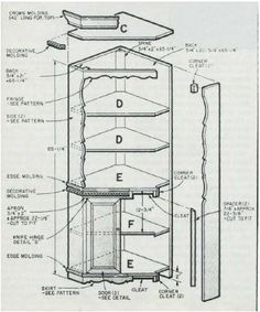 Woodworking Plan For Corner Display Cabinet. Complete Woodworking Plans  With Detail Descriptions Can Be Found On My Website: Www.