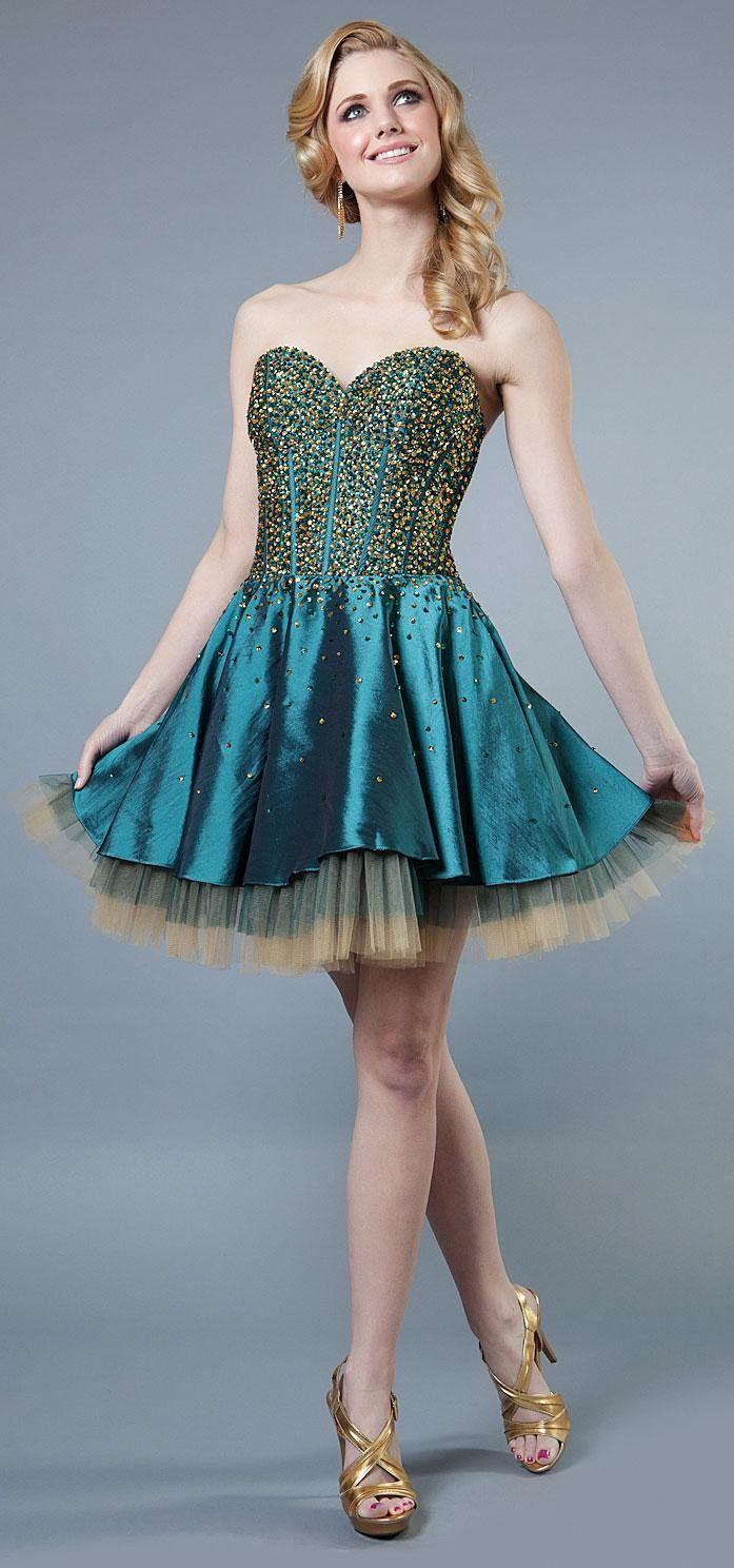Sparkling Short Prom Dress | VOGUE | Pinterest | Short prom ...