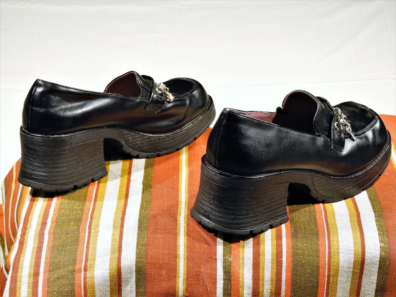 29e3000624fd Womens 90s Vintage Mudd Platform Chunky Heel Shoes Club Grunge Rave Size 6   Mudd  PlatformsWedges